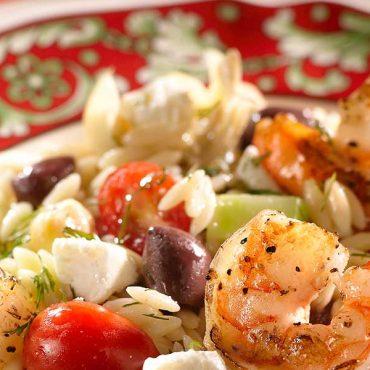 Greek Shrimp & Orzo Salad