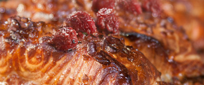 Graham Rahal's Raspberry Glazed Salmon
