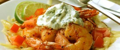 Cabot's Shrimp Cheddar Tostada