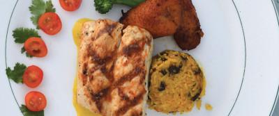 Michael Howell's Mahi Mahi with Roasted Yellow Pepper Coulis