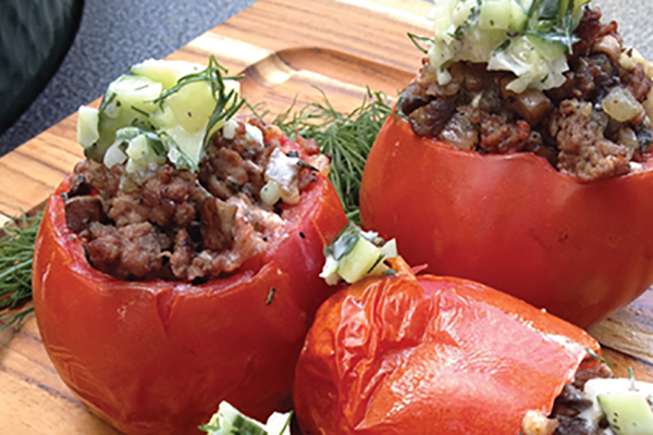 Linkie Marais' Greek Stuffed Tomatoes