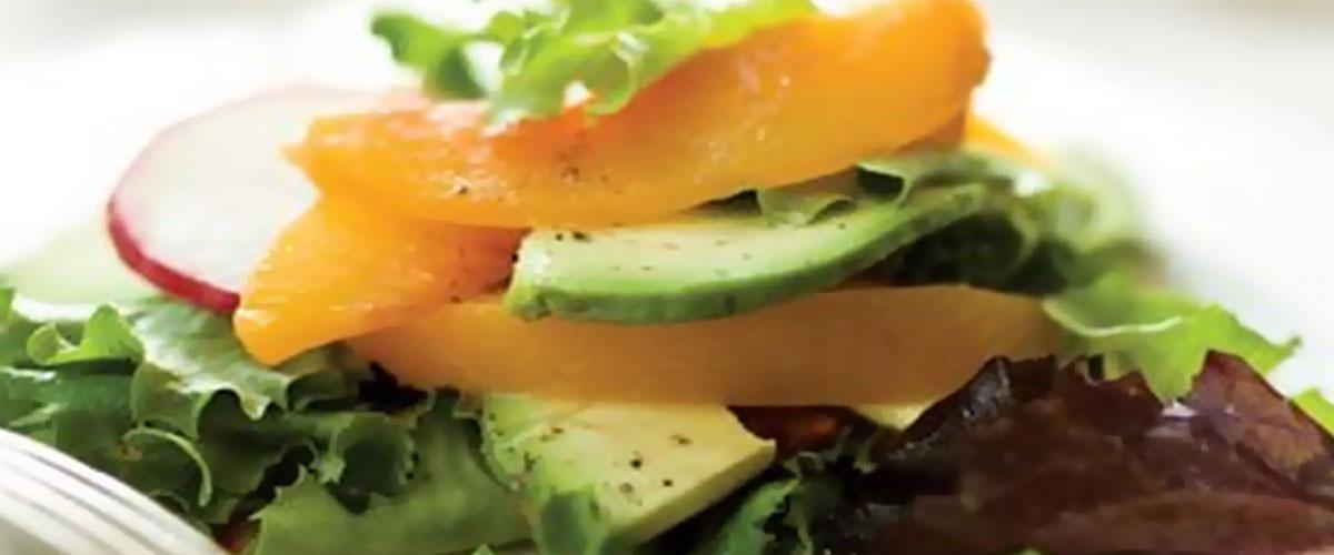 Georgia Peach's Peach and Avocado Salad