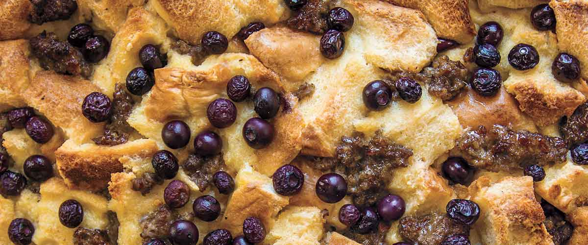 Big Green Egg Blueberry French Toast Casserole