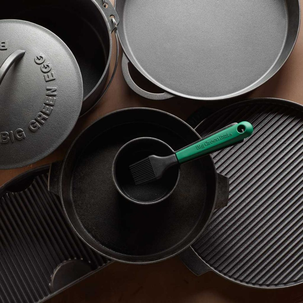 Big Green Egg's line of cast iron
