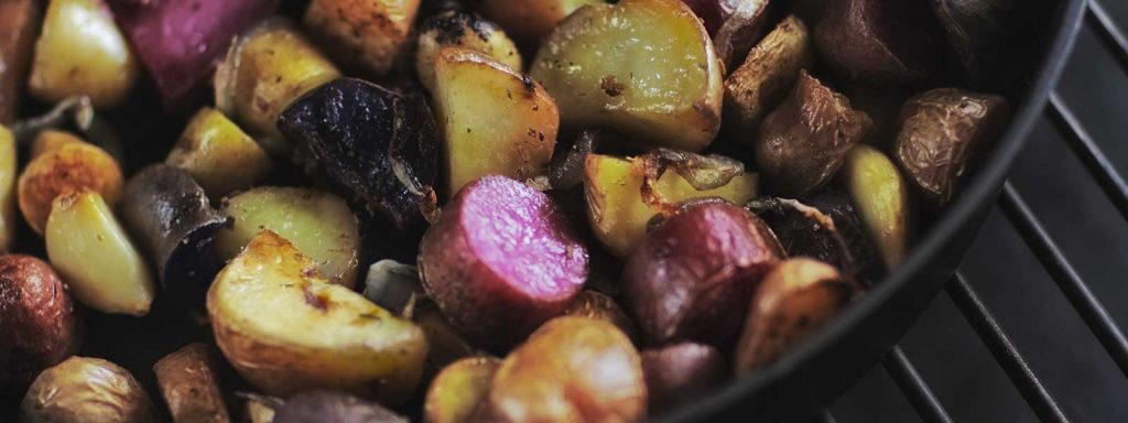 Roasted Potatoes on the Big Green Egg makes a great side dish