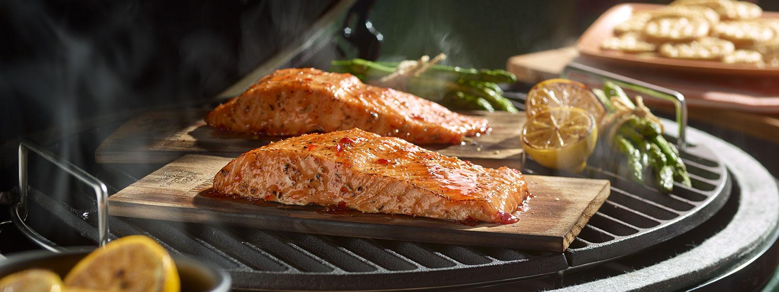 Cedar-Planked Smoked Salmon
