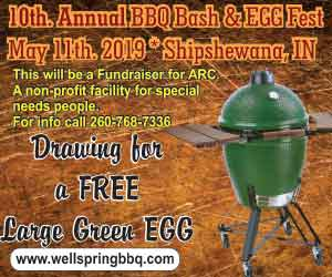 10th Annual BBQ Bash & EGGfest May 11th 2019