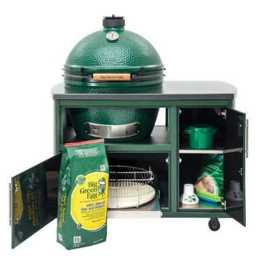 49 inch custom cooking island with grilling, smoking equipment in comparrments