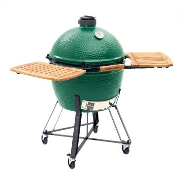 XL Big Green EGG with Acacia Wood EGG Mates in EGG Nest