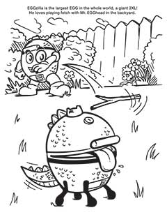 Big Green Egg Coloring Pages and Games