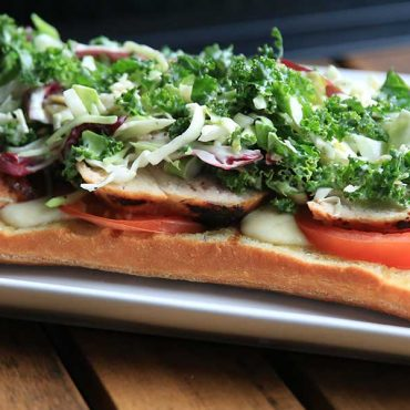 Grilled Chicken Flat Bread with Taylor Farms® Sweet Kale Salad