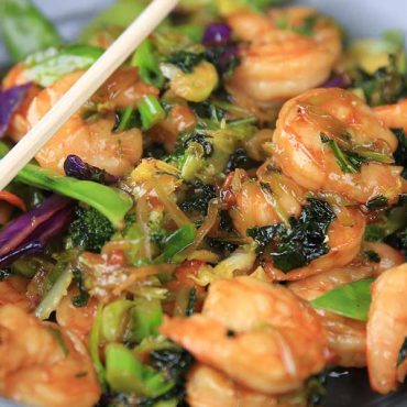 Grilled Shrimp and Taylor Farms® Teriyaki Stir Fry Kit