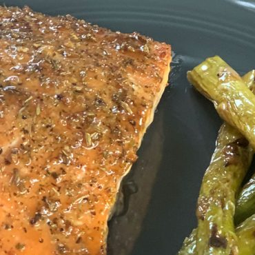 Cedar Planked Honey Glazed Salmon