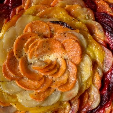 Cheesy Root Vegetable Gratin