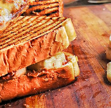 banana and bacon peanut butter sandwich