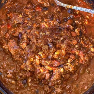 Over the top chili