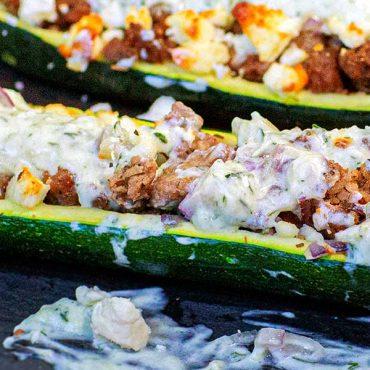Greek Zucchini Boats