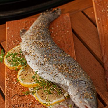 Cedar Planked Trout