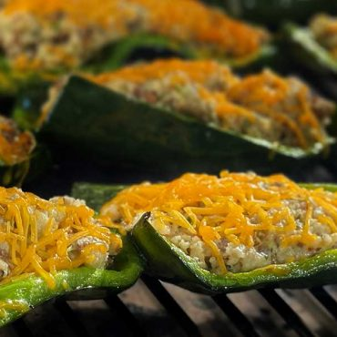 Cilantro Grits Stuffed Poblano Peppers