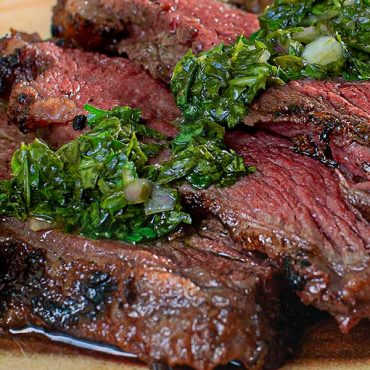 Reverse-Seared Picanha with Chimichurri