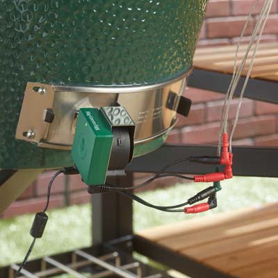 Egg Genius with Y Cable attached to Big Green Egg