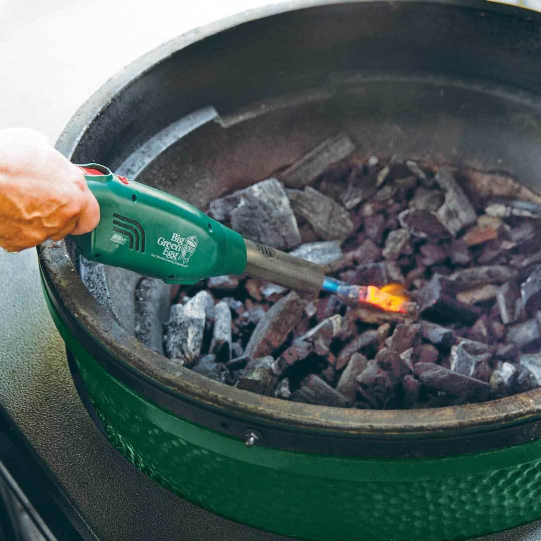 Battery Powered Refillable Butane Charcoal Eggniter lighting charcoal