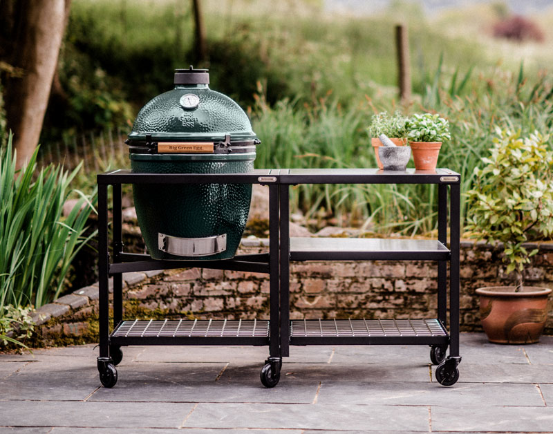 Large Big Green Egg Grill Cart Table